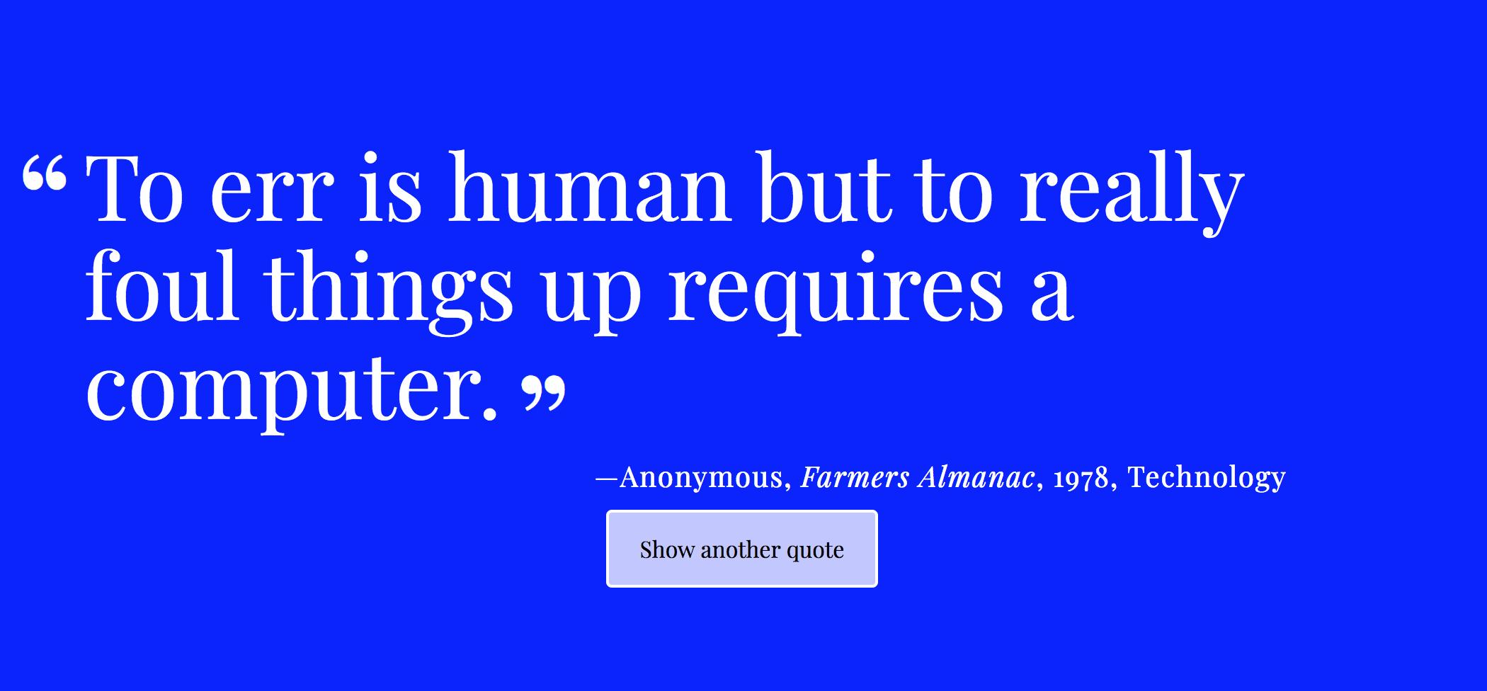 Random Quote Generator | Chris Underwood S Portfolio Site